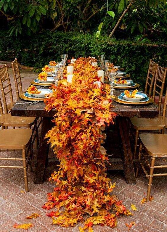 Sonbahar Temalı Masa Düzenlemesi