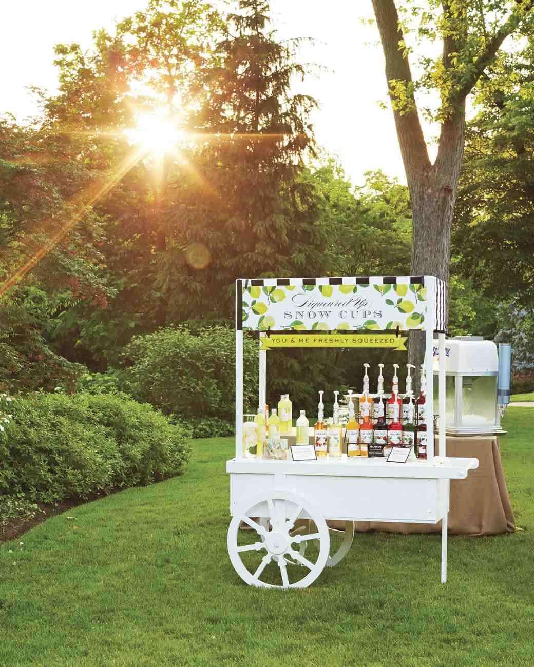 Yaz Düğünü Soğuk İçecek Arabası