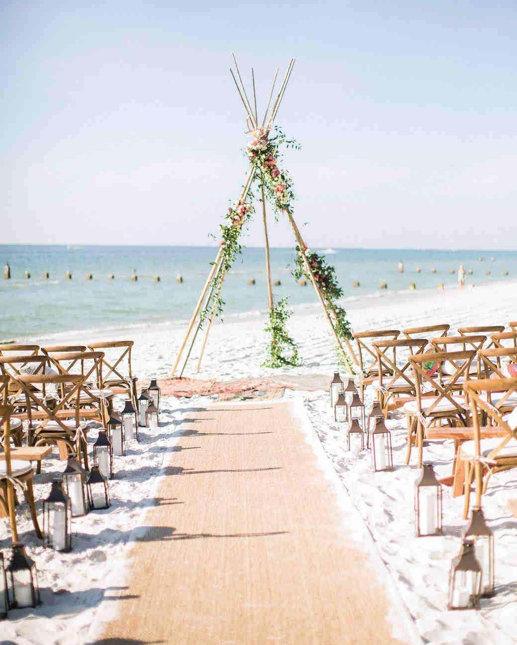 Bohem Sahil Düğünü Seremoni Alanı Dekorasyonu