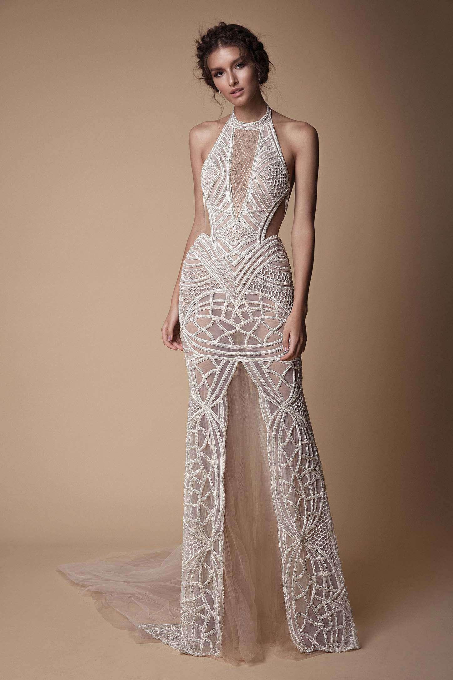 Berta Modern Beyaz Elbise
