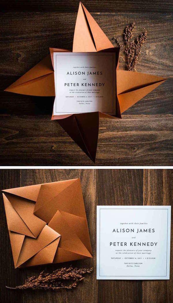 Origami Düğün Davetiyesi