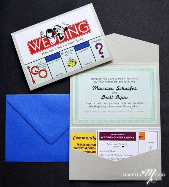 Monopoly Oyunu Şeklinde Düğün Davetiyesi