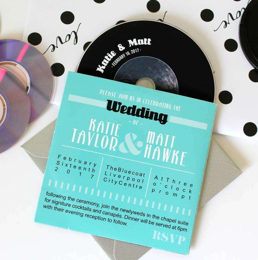 Plak Şeklinde Düğün Davetiyesi