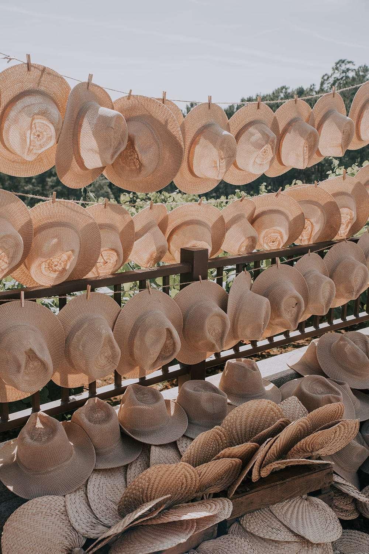 Sahil Düğünü Düğün Hediyeliği Hasır Şapkalar