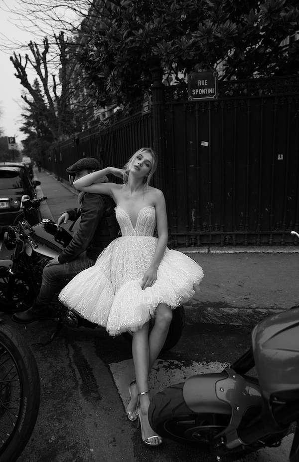 Berta Tüy Detaylı Mini Elbise