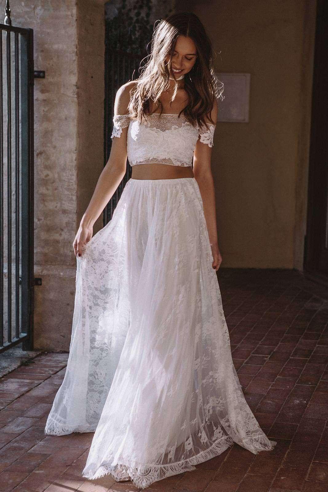 Grace Loves Lace İki Parça Beyaz Dantel Elbise