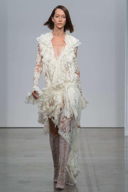 Zimmermann Fırfırlı Uzun Kollu Elbise