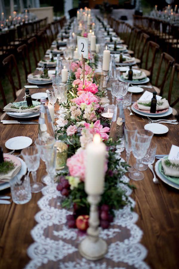 Aisha Weddings - Vintage Masa Düzenlemesi