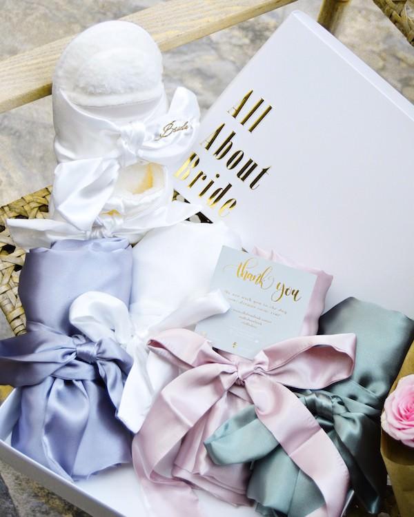All About Bride - Farklı Renkte Saten Sabahlıklar