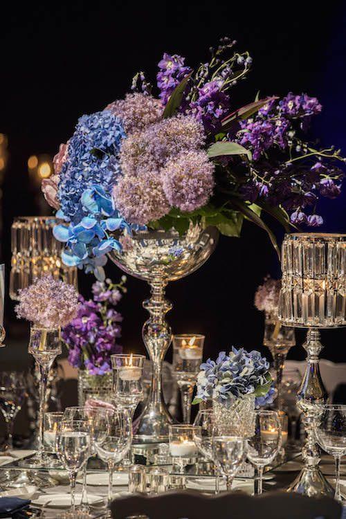 KM Events - Mavi ve Mor Çiçek Aranjmanı