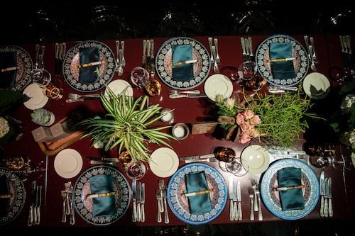 Mywedding - Mavi ve Yeşil Ağırlıklı Masa Düzenlemesi