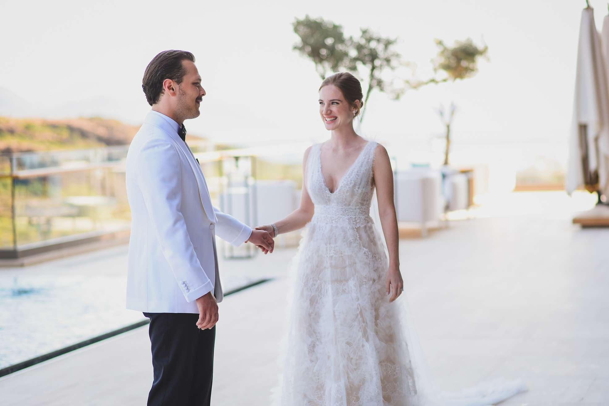 Objektif Photography Sahil Düğünü Çift Fotoğrafı