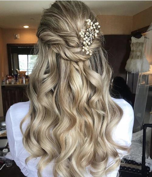 Vedat Kozgül Wedding - Doğal Dalgalı Gelin Saçı