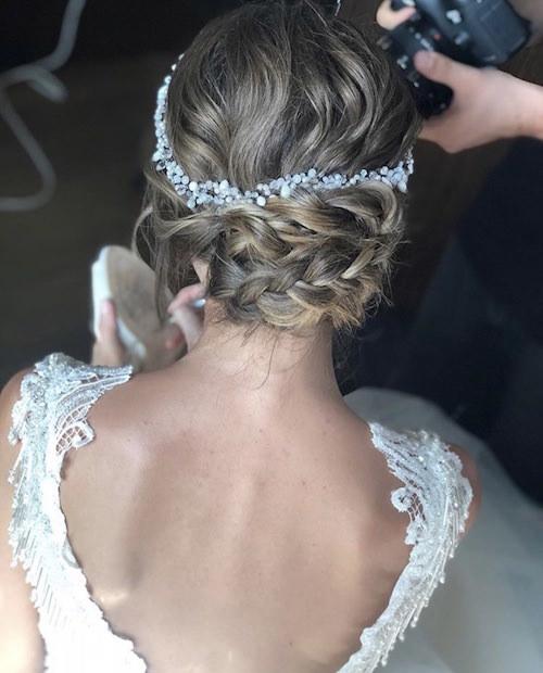Vedat Kozgül Wedding - Örgülü Ensede Topuz