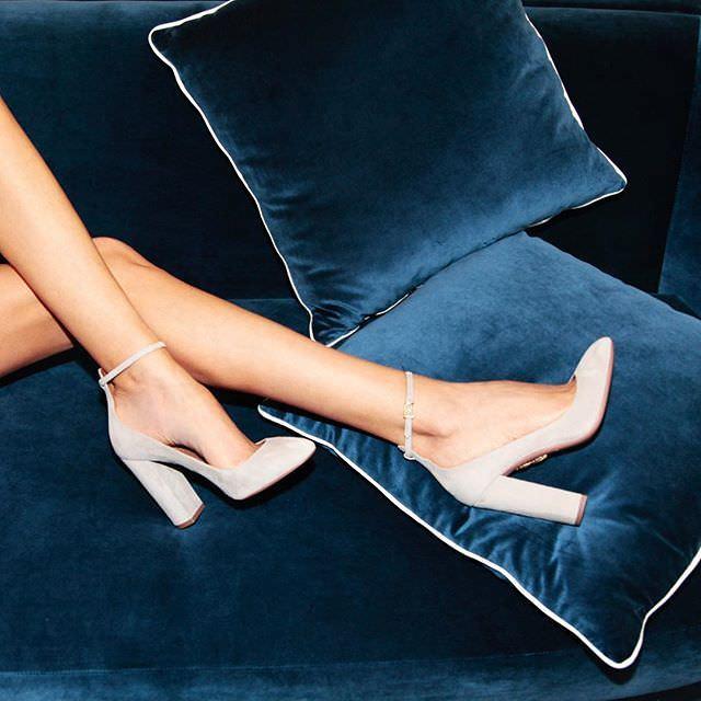 Aquazzura Kalın Topuklu Süet Ayakkabı