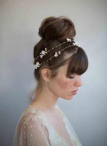İnce & Minik Çiçek Detaylı Twigs & Honey Saç Aksesuarı