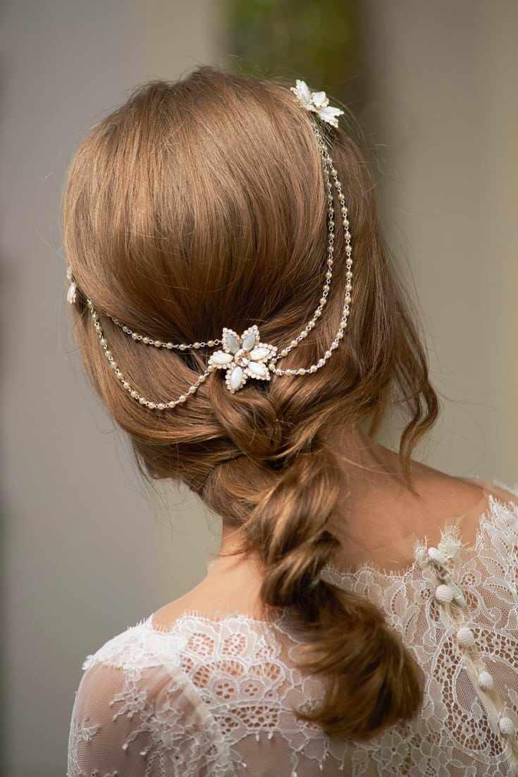 Maria Helena Headpieces Metal Çiçekten Saç Aksesuarı & Salaş Örgü