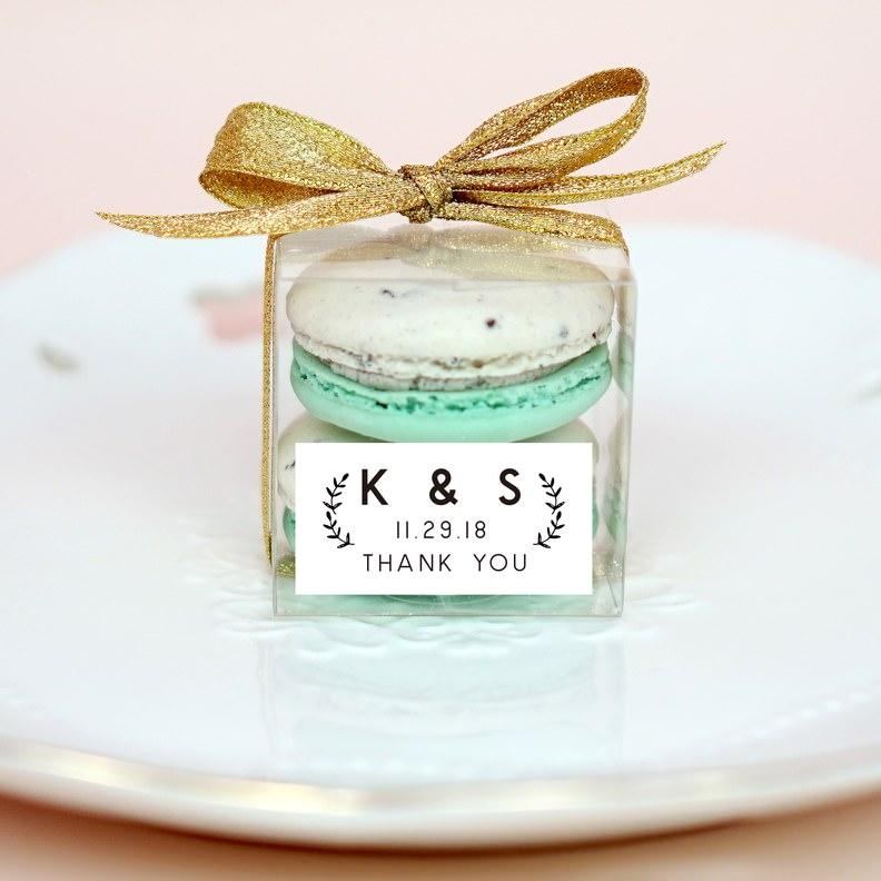 Yeşil Macaron Düğün Hediyeliği