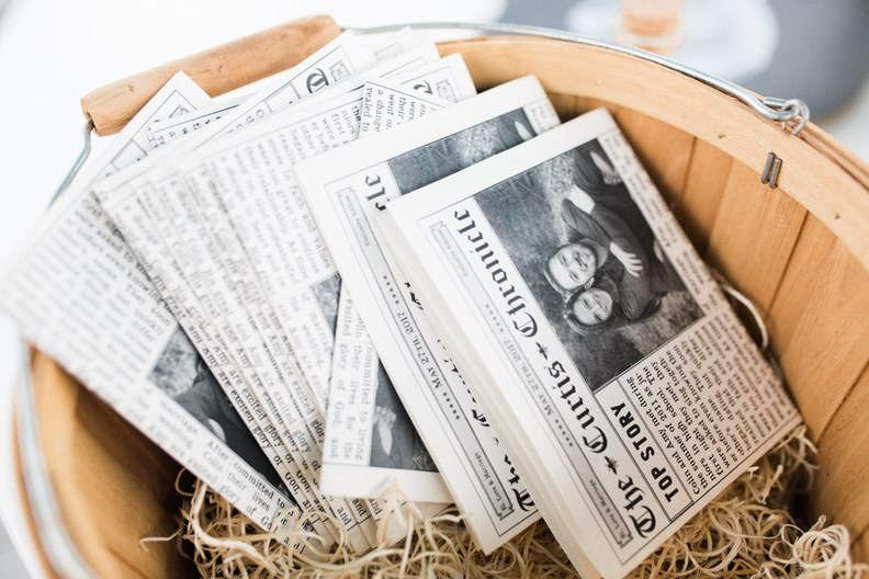 Çifte Özel Basılmış Gazete Düğün Hediyeliği