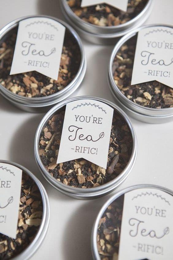 Teneke Kutularda Bitki Çayı Düğün Hediyeliği