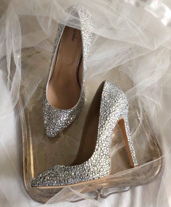 Sanemiko Taşlı & Sivri Burun Stiletto Gelin Ayakkabısı