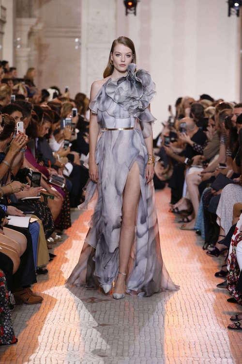 Elie Saab Mermer Desenli Elbise