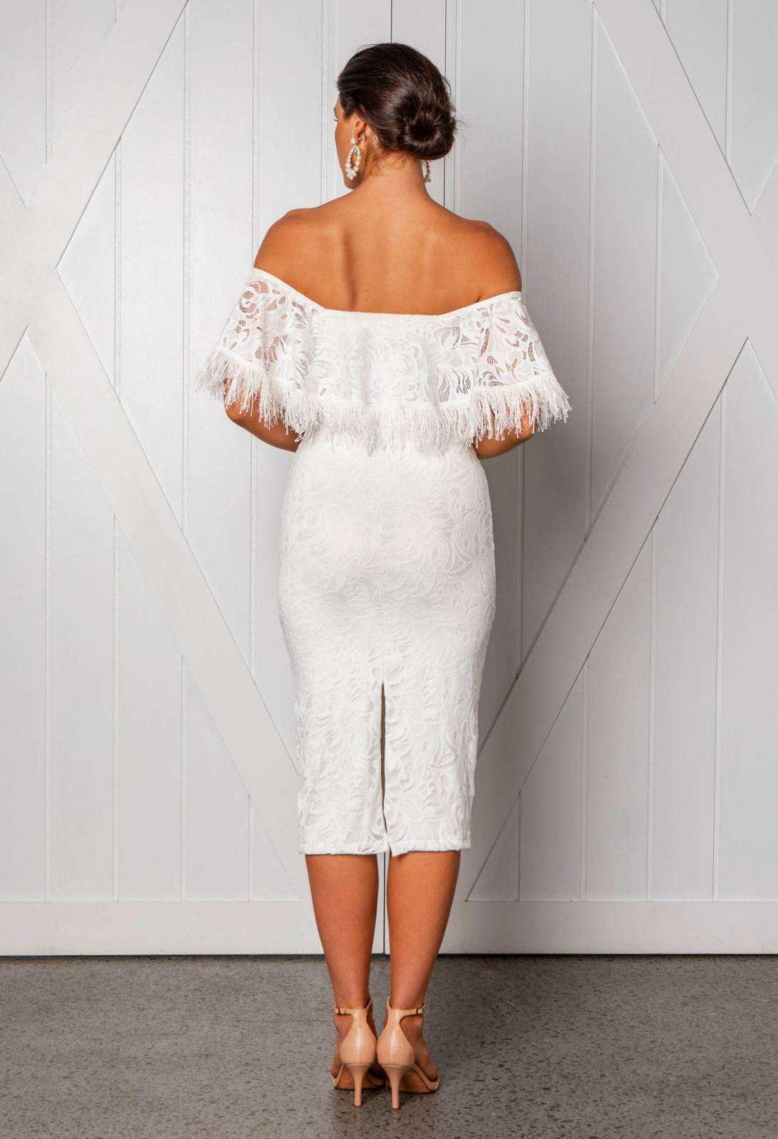 Grace Loves Lace Düşük Omuzlu Kalem Elbise