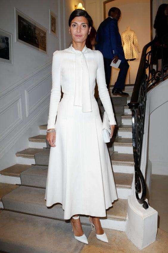 Christian Dior Uzun Kollu Yüksek Yakalı Midi Elbise