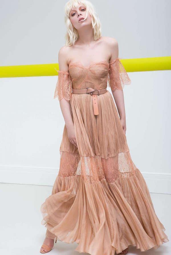 Maria Lucia Hohan Dantel Detaylı Yavru Ağzı Uzun Elbise