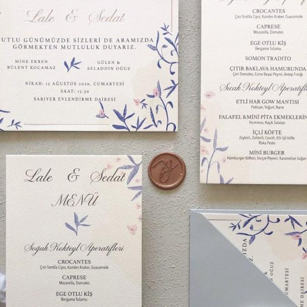 AY Paper Studio - Minimal Tasarımlı Davetiye Seti