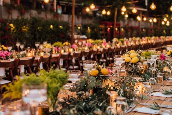 Nilyum Wedding & Event Design - Limonların ve Yaprakların Kullanıldığı Dekorasyon