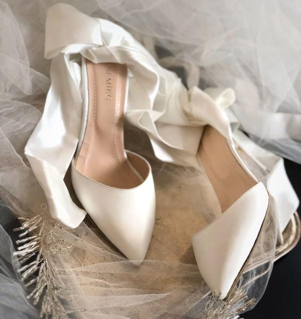 Sanemiko Kurdele Bağlamalı & Sivri Burunlu Gelin Ayakkabısı
