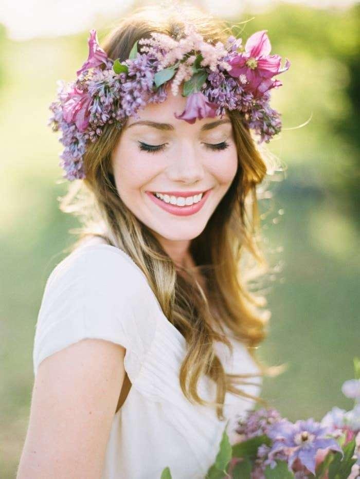 Renkli Çiçek Aranjmanlı Gelin Saç Aksesuarı